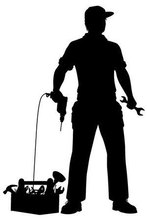 Black and white graphic silhouette